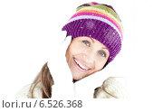 Composite image of joyful woman looking at the camera. Стоковое фото, агентство Wavebreak Media / Фотобанк Лори
