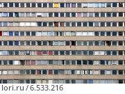 Купить «Front side of a concrete panel building in Berlin, Germany», фото № 6533216, снято 29 августа 2005 г. (c) Caro Photoagency / Фотобанк Лори