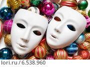 Купить «Theatre concept with the white plastic masks», фото № 6538960, снято 3 октября 2010 г. (c) Elnur / Фотобанк Лори