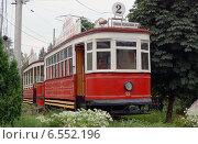 Старинный трамвай в Самаре (2013 год). Редакционное фото, фотограф Ирина Черкашина / Фотобанк Лори