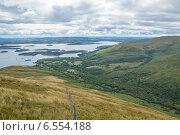 Вид с Бейн Дабх (Beinn Dudh) на озеро Лох Ломонд (Loch Lomond) Стоковое фото, фотограф Анатолий Палатов / Фотобанк Лори