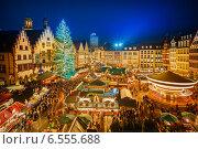 Купить «Christmas market in Frankfurt», фото № 6555688, снято 20 ноября 2017 г. (c) Sergey Borisov / Фотобанк Лори