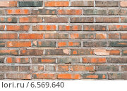 Купить «Бесшовный фон текстуры старой стены из красного кирпича», фото № 6569640, снято 13 сентября 2014 г. (c) EugeneSergeev / Фотобанк Лори