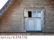Окно с форточкой в деревянном доме. Стоковое фото, фотограф Кекяляйнен Андрей / Фотобанк Лори