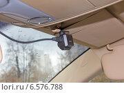 Купить «Камера автомобильного видеорегистратора с GPS», эксклюзивное фото № 6576788, снято 22 октября 2014 г. (c) Юрий Шурчков / Фотобанк Лори