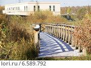Мосток через ручей. Стоковое фото, фотограф Илья Хаскин / Фотобанк Лори