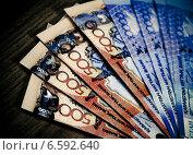 Купить «Деньги Казахстана (тенге)», фото № 6592640, снято 7 августа 2013 г. (c) ElenArt / Фотобанк Лори