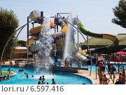 Water slide at Illa Fantasia Water Park (2014 год). Редакционное фото, фотограф Яков Филимонов / Фотобанк Лори