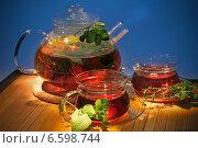 Чай с травами. Стоковое фото, фотограф Татьяна Белова / Фотобанк Лори