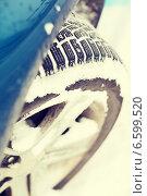 Купить «closeup of car winter tire», фото № 6599520, снято 16 января 2014 г. (c) Syda Productions / Фотобанк Лори