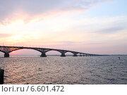 Купить «Мост через Волгу Саратов-Энгельс», фото № 6601472, снято 14 октября 2014 г. (c) Anna Kavchik / Фотобанк Лори