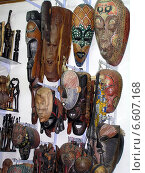 Африканские маски. Дахаб. Египет. (2007 год). Редакционное фото, фотограф Борис Плеханов / Фотобанк Лори