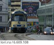 Трамвай в Вене (2013 год). Редакционное фото, фотограф Виталий Федотов / Фотобанк Лори