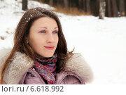 Девушка в зимней одежде. Стоковое фото, фотограф Алексей Кириллов / Фотобанк Лори