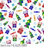 Купить «Новогодний бесшовный фон», иллюстрация № 6625080 (c) Наталия Попова / Фотобанк Лори