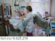 Купить «Акушерка пеленает только что рожденного младенца в отдельной палате для родов», фото № 6625216, снято 2 октября 2008 г. (c) Кекяляйнен Андрей / Фотобанк Лори