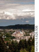 Район города сверху (2014 год). Стоковое фото, фотограф Инна Остановская / Фотобанк Лори