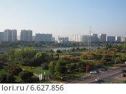 Вид на реку Москвы из района Марьино (2014 год). Стоковое фото, фотограф Витинская Светлана / Фотобанк Лори