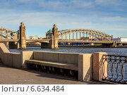 Большеохтинский мост, Санкт-Петербург (2014 год). Стоковое фото, фотограф Анатолий Кузнецов / Фотобанк Лори