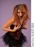 Девушка вампир. Стоковое фото, фотограф Сергей Балашов / Фотобанк Лори