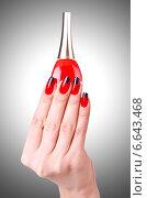 Купить «Fashion concept with nail art», фото № 6643468, снято 19 апреля 2013 г. (c) Elnur / Фотобанк Лори