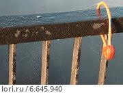 Замок на перилах моста. Стоковое фото, фотограф Андрей Кудряшов. / Фотобанк Лори