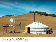 Монгольская юрта. Стоковое фото, фотограф Артем Мишуков / Фотобанк Лори