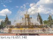 Купить «Москва, ВДНХ. Фонтан «Каменный цветок»», фото № 6651140, снято 7 июля 2014 г. (c) Владимир Сергеев / Фотобанк Лори