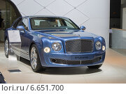 Купить «Bentley Mulsanne на ММАС 2014», фото № 6651700, снято 3 сентября 2014 г. (c) Алексей Назаров / Фотобанк Лори