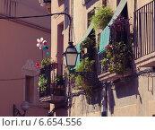 Балконы с цветами и флюгерами. Стоковое фото, фотограф Эдуард Данилов / Фотобанк Лори