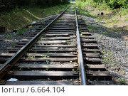 Старая железная дорога. Стоковое фото, фотограф Сергей Дерябкин / Фотобанк Лори