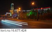 Ночная дорога в городе, таймлапс. Стоковое видео, видеограф Леван Каджая / Фотобанк Лори