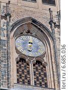 Купить «Часы на соборе Святого Витаса, Прага», фото № 6685036, снято 4 июля 2014 г. (c) Ласточкин Евгений / Фотобанк Лори