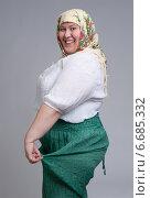 Купить «Веселая русская баба», фото № 6685332, снято 11 января 2014 г. (c) Александр Лычагин / Фотобанк Лори