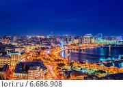 Купить «Night view of Baku, Azerbaijan», фото № 6686908, снято 9 марта 2014 г. (c) Elnur / Фотобанк Лори