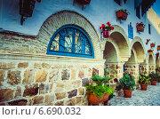 Стена в андалусском стиле. Стоковое фото, фотограф Степанченко Екатерина / Фотобанк Лори