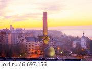 Купить «Калуга. Вид на утренний город сверху», эксклюзивное фото № 6697156, снято 15 ноября 2014 г. (c) Литвяк Игорь / Фотобанк Лори