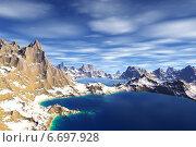 Купить «Чужая планета. Скалы и море», иллюстрация № 6697928 (c) Parmenov Pavel / Фотобанк Лори