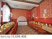 Красивый зал подготовленный для проведения праздника. Стоковое фото, фотограф Алёна Замотаева / Фотобанк Лори