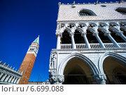 italy, venice. piazza san marco and campanile. Стоковое фото, фотограф Erwin Wodicka / Фотобанк Лори