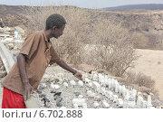 Озеро Ассале. Джибути. Торговля сувенирами. (2013 год). Редакционное фото, фотограф Михаил Копылов / Фотобанк Лори