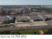 Купить «Крокус Сити Холл и Крокус Экспо, МКАД 67км . Съемка с воздуха.», фото № 6705852, снято 21 мая 2014 г. (c) Михеев Алексей / Фотобанк Лори