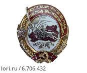 Купить «Орден Тувинской Аратской республики, 1941 г», фото № 6706432, снято 22 мая 2008 г. (c) Виталий Матонин / Фотобанк Лори