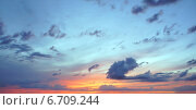 Закат. Стоковое фото, фотограф Юлия Куксова / Фотобанк Лори