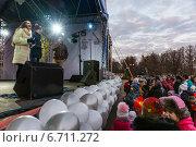 Праздник в честь открытия катка в Измайлове. Лёд 2.0. Зима 2014 года. Редакционное фото, фотограф Павел Лиховицкий / Фотобанк Лори