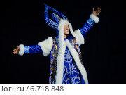 Купить «Чысхаан - якутский Дед Мороз во время танца оленя на Всероссийском конкурсе артистов балета», фото № 6718848, снято 26 ноября 2014 г. (c) Николай Винокуров / Фотобанк Лори