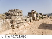 Купить «Турция, Иераполис (Памуккале). Склепы и саркофаги в античном некрополе, II в. до н.э.  - XV в. н. э», фото № 6721696, снято 27 июня 2014 г. (c) Rokhin Valery / Фотобанк Лори