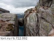 Купить «Вид на фьорд с плато Къераг, Норвегия», фото № 6722092, снято 6 июня 2013 г. (c) Ксения Демьяненко / Фотобанк Лори