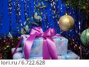 Купить «Новогодний подарок под елкой», фото № 6722628, снято 13 ноября 2014 г. (c) ирина реброва / Фотобанк Лори