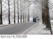 Туманное утро на трассе (2014 год). Редакционное фото, фотограф Ляля Рюмина / Фотобанк Лори